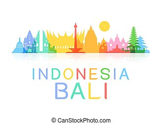 viaje, indonesia, landmarks.