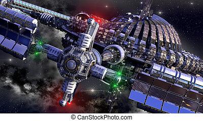 viaje, interestelar, nave espacial