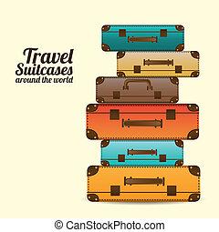 viaje, maletas