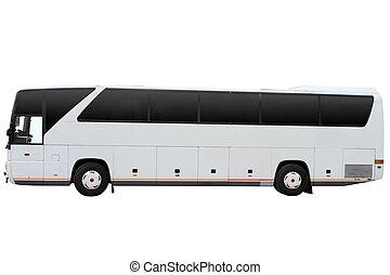 viaje, moderno, autobús