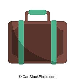 viaje, moderno, estilo, eqipment, maleta
