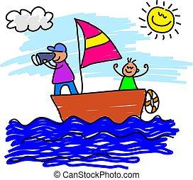 viaje, navegación
