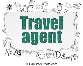 viaje, papel, concept:, plano de fondo, agente, vacaciones, ...