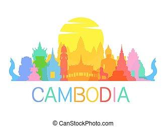viaje, señales, camboya