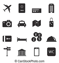 viaje turismo, ícones