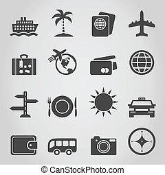 viaje, un, icono