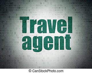 viaje, vacaciones, agente, papel, plano de fondo, digital, ...