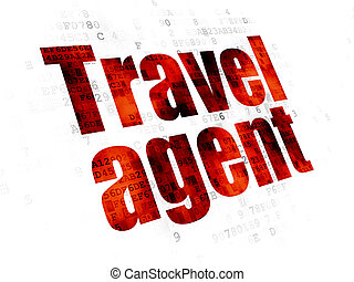viaje, vacaciones, agente, plano de fondo, digital, concept: