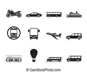 viaje, y, transporte, de, peopl