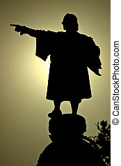 viajero, grande, christopher colón, sculture