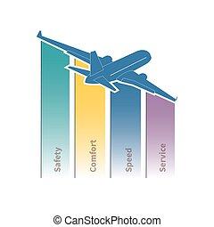 viajes aéreos, infographic
