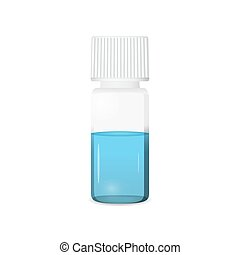 Vial illustration on white background, lab glassware, 3d ...