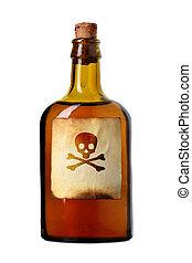 vial, met, vergiftigen