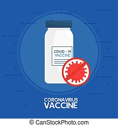 vial of vaccine of coronavirus covid19 vector illustration ...