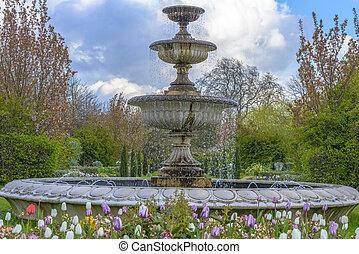 viale, giardini, a, il, regent's, parco, in, londra