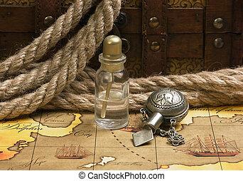 Vials of perfume oils, still-life