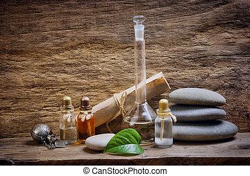 vials, wezenlijke olies