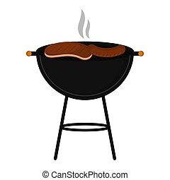 viande, bifteck, grillé