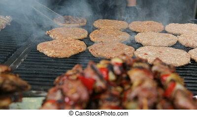 viande, gril, torréfaction