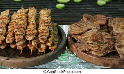 viande, rôti, gril