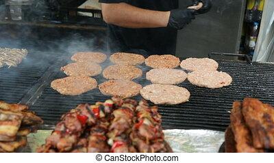 viande, torréfaction, gril