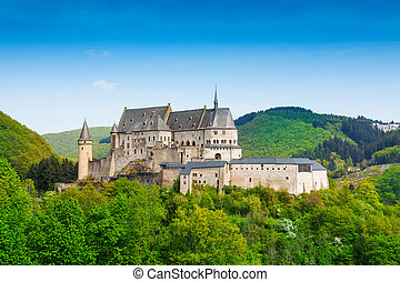 Vianden Luxembourg mountains and forests - View of Vianden ...