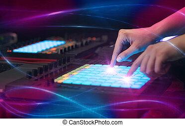 vibe, 控制器, midi, 波浪, 混合音乐, 概念