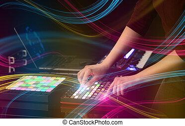 vibe, 控制器, midi, 色彩丰富, 混合音乐, 概念