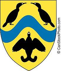 Viborg amt coa - Various vector flags, state symbols,...