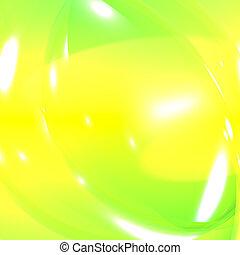 vibrance, abstrakt, lebenskraft, grün, gelber hintergrund,...