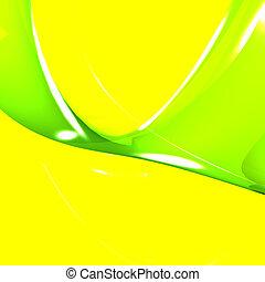 vibrance, ausstellung, lebenskraft, grün, gelber...