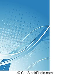Vibrant backdrop - Blue abstract background with circles and...