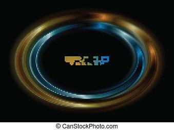 Vibrant backdrop - Blue and orange ellipse. Vector logo eps ...