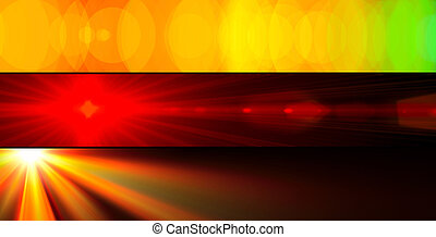 Vibrant banners - Three abstract colourful banners of ...