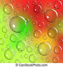 vibrant bubble background - Vibrant bubble background of...