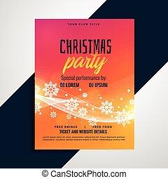 vibrant christmas snowflakes flyer design template