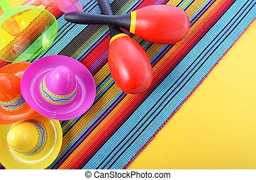 Vibrant Cinco de Mayo background.