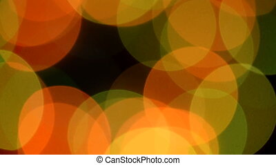 Vibrant color blur christmas light decoration