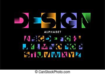Vibrant color bold modern font
