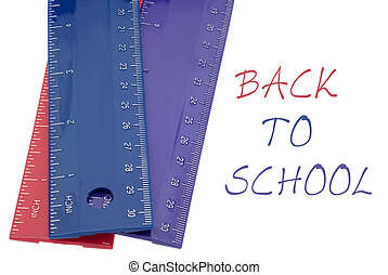 Vibrant Colored Ruler Back to School Concept