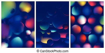 Vibrant colorful abstract gradient in the sphere, color reflexes on geometric shapes, Trendy modern design background