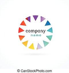 vibrant colorful logo concept