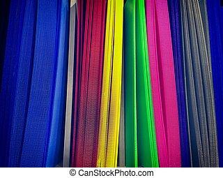 Vibrant Corrugated Plastic Sheets on Shelf
