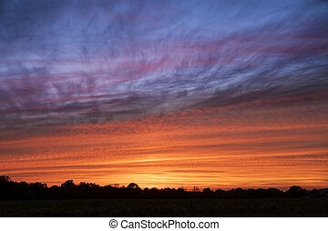 Vibrant Evening Sky