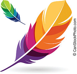 Vibrant Feathers - Vibrant colorful feathers.