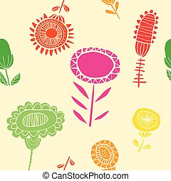 Vibrant floral seamless pattern