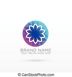 vibrant flower logo design concept