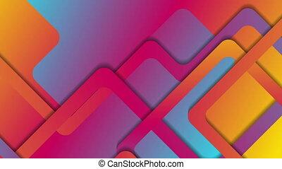 Vibrant gradient abstract geometric video animation -...