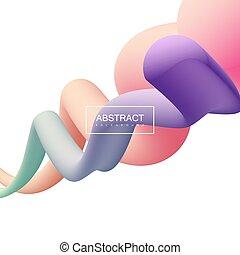 Vibrant gradient shapes.