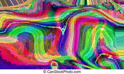 vibrant, granuleux, dynamique, nostalgique, arrière-plan., iridescent